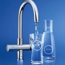 Este grifo ofrece entre otras, la posibilidad de obtener agua filtrada, gasificada y refrigerada.
