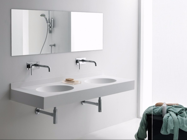 Lavamano doble minimalista.